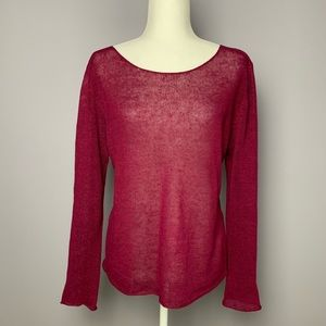 Eileen Fisher Berry Loose Knit Linen Sweater